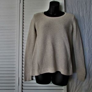 Madewell cotton blend oatmeal sweater extra small